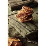 Ferm Living Hale tea towel, green - black
