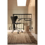 Roots Living Wicker rug, natural