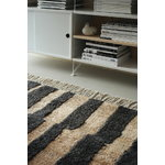 Roots Living Pilari rug, bamboo - wool, carbon - brown