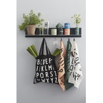 Design Letters Black Single Shelf, long