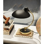 Fritz Hansen Kaiser Idell 6631-T Luxus table lamp, matt black - brass