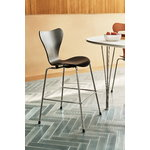 Fritz Hansen AJ Series 7 Junior chair, black - chrome