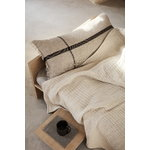 Ferm Living Calm cushion, 40 x 90 cm, camel - black