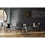 Vitra Belleville armchair, oak - black