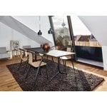 Artek Aalto jakkara E60, musta linoleum