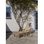 Skagerak Between Lines deck chair, teak
