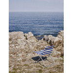 Skagerak Lise sunchair, blue stripes