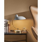 Fritz Hansen Kaiser Idell 6631-T Luxus table lamp, Easy Grey - brass