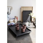 Ferm Living Bon tray, S, black stained oak
