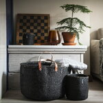 Mifuko Kiondo basket with handles M, black