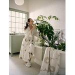 Marimekko Unikko bathrobe, beige-white-green