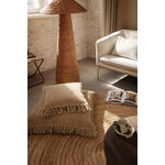 Ferm Living Kelim Fringe cushion, small, sand
