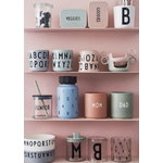 Design Letters Eat & Learn ABC melamine cup, light pink