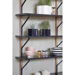 Artek Kaari wall shelf REB 009, black - oak