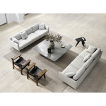 Fredericia Calmo 80 sohva, 3-istuttava, Ruskin 10 - musta teräs