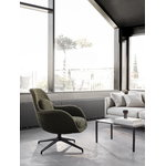 Fredericia Swoon Lounge Petit, swivel base, black - Carlotto 900