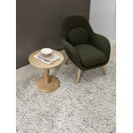 Fredericia Swoon Lounge Petit armchair, Carlotto 900 - oiled oak