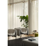 Hem Puffy lounge chair, natural - stainless steel