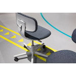 Vitra Rookie task chair, blue grey melange - light grey