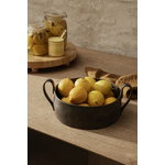 Ferm Living Flow jam jar with spoon, yellow speckle