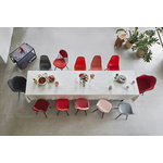 Vitra Eames DSW Fiberglass chair, classic red - maple