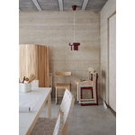 Artek A201 pendant, dark red - brass