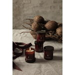 Ferm Living Scented advent candles, set of 4, red brown
