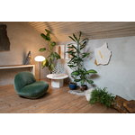 Gubi Epic coffee table, round, 80 cm, white travertine
