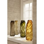 Ferm Living Water Swirl vase, tall, amber