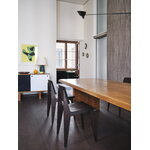 Vitra Chaise Tout Bois chair, dark-stained oak