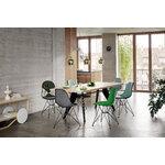 Vitra Eames DSR Fiberglass Chair, raw umber - black