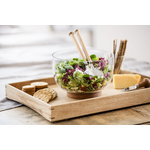 Sagaform Oak salad utensils