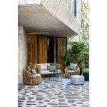 Cane-line Cube footstool, light grey