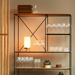 Fritz Hansen PM-02 table lamp, opal - brass