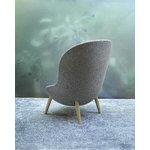 Normann Copenhagen Hyg lounge chair, oak - Main Line Flax MLF26