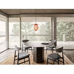 Gubi Epic dining table, round, 130 cm, midnight black steel