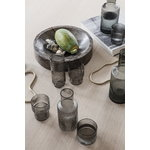 Ferm Living Ripple glasses, 4 pcs, smoked grey