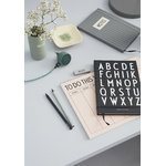 Design Letters Pearl Charger HEY, dark green