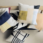 Ferm Living Kelim cushion, Black Lines