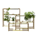 Adea The Botanic Shelf, rovere naturale - ottone