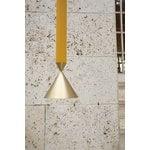 Pholc Lampada a sospensione Apollo 79, giallo miele - ottone lucidato