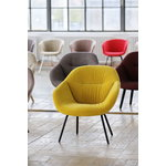 Hay About A Lounge Chair AAL87 Soft, black - Lola yellow