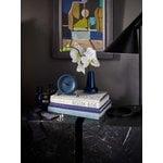 Arne Jacobsen AJ City Hall table clock with alarm, stone blue