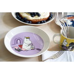 Arabia Moomin plate 19 cm, Snorkmaiden lilac