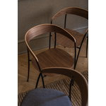New Works Missing armchair, lacquered walnut - black