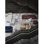 &Tradition Lato LN9 coffee table, white - Cream Diva marble
