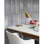 &Tradition Pavilion AV16 työpöytä, vaaleanharmaa linoleumi - tammi - kromi