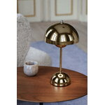 &Tradition Flowerpot VP9 portable table lamp, brass plated