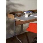&Tradition Pavilion AV17 desk, mushroom linoleum - oak - chrome