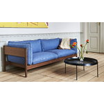 Hay Arbour Eco 3-seater, Re-wool 648 - oiled waxed walnut
